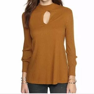 Free People Copa Banana Rib Knit Tunic Top